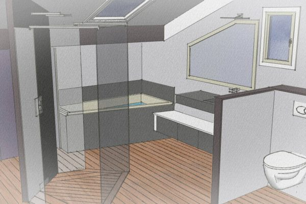 Salle De Bain Moderne Ar Interieur Spécialiste De La Rénovation - Plan salle de bain moderne