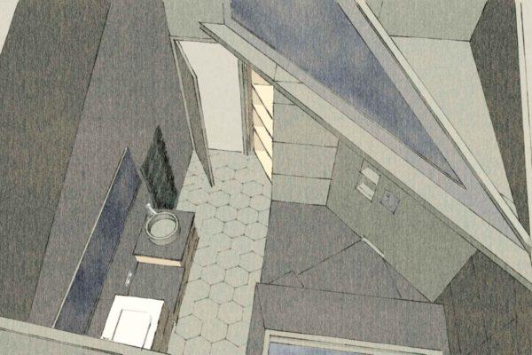 plan 3d de salle de bain